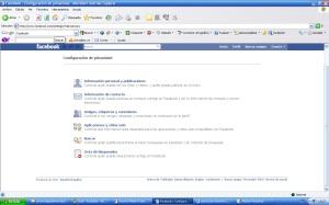 Configuración privacidad en Facebook