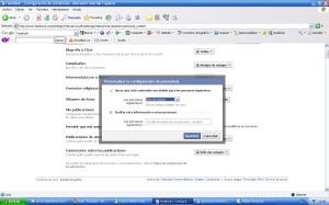 Personalizar la privacidad en Facebook