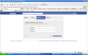 Rellenar datos perfil facebook