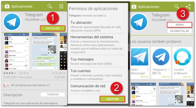Telegram Descarga e instalacion para Android