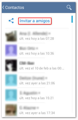 Telegram Contactos