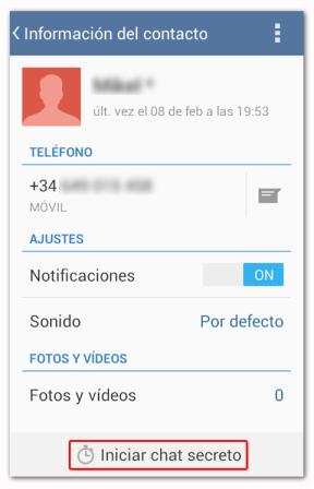 Telegram Iniciar Chat Secreto