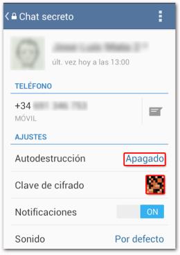 Telegram Chat Secreto Autodestrucción