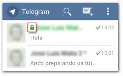 Telegram Diferencias entre Chats
