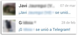 Notificación Recibida Nuevos Contactos Unidos a Telegram
