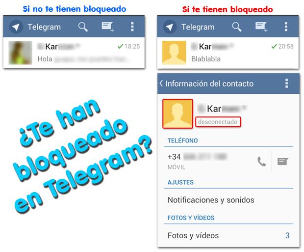 Telegram Como se ve si te han bloqueado