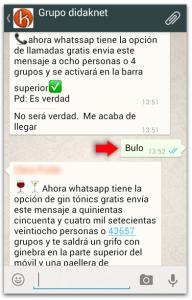 Llamadas WhatsApp bulos