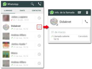 Llamadas WhatsApp Info