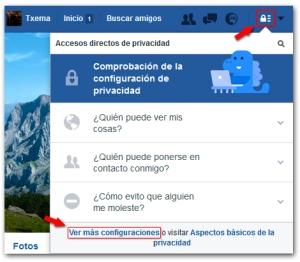 Facebook Seguridad Mas Configuraciones